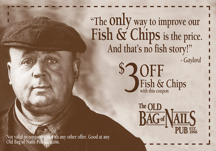 $3 off fish and chips